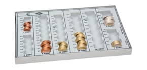 Münzzählbrett EURO l`grau WEDO 160 7580 37 Produktbild