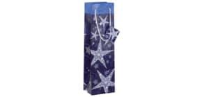 Weihnachts Flaschentragetasche SIGEL GT027 Bottle Shining Stars Produktbild