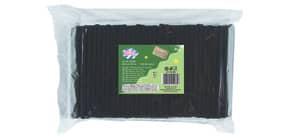 Trinkhalm BIO PLA 250ST schwarz DECOR SERVICE D25165 150mm x8mm Produktbild