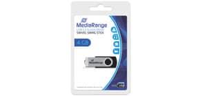 USB Stick 2,0 4Gb high speed MEDIARANGE MR907 Produktbild