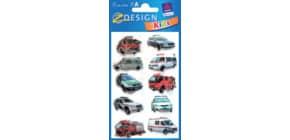 Schmucketikett 3D Polizeiautos ZWECKFORM 53745 1Bl Produktbild