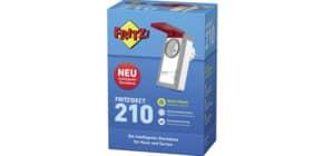 Funk Schalt- und Messsteckdose grau/weiß FRITZ 20002723 Dect 210 Außenbereich Produktbild