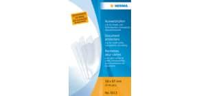 Ausweissteckhülle A8 transparent HERMA 5013, 58x87mm Produktbild