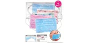 Gesichtsmaske für Kinder blau+rosa 28414 4 Motive sortiert Produktbild