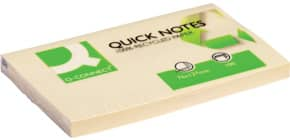 Haftnotizblock 76x127mm gelb Q-CONNECT KF05610 120 Blatt Recycling Produktbild
