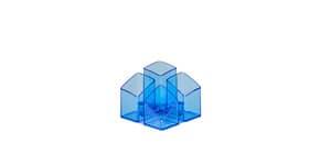 Köcher Scala blau-transparent HAN 17450-26 4tlg. Produktbild