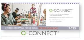 Tischkalender quer 29.7x13.5cm grau Q-CONNECT 2.262.109.508 1W/2S Produktbild