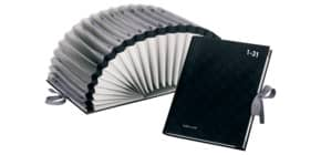 Vorordner 31 Fächer schwarz PAGNA 2431104 Halbkreisfächer Produktbild