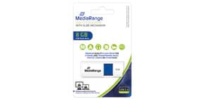 USB Stick 8GB blau MEDIA RANGE MR971 2.0 Produktbild