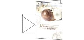 Weihnachts Design Karte Moments SIGEL DS344 220 g, 10+10 Stück Produktbild