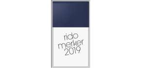 Tischkalender 1T 1S blau 10,7x20,1cm RIDO 703500338 Kunstleder Merker Produktbild