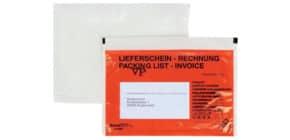 Begleitpapiertasche C6 SK rot DOCUFIX 201 Druck Lief./Rech. 250St Produktbild