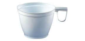 Kaffeetasse Plastik weiß HOSTI 30111070 10ST m.Henkel Produktbild