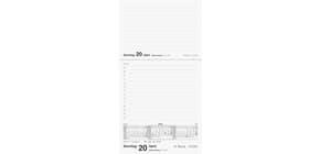 Tischkalender 1T 1S dunkelrot 10,7x20,1c RIDO 703500327 Kunstleder Merker Produktbild