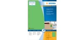 Universaletiketten 210x297 grün HERMA 4404 100 Blatt Produktbild