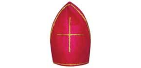 Bischofsmütze  rot Produktbild