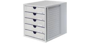 Schubladenbox lichtgrau HAN 1450-11 5 geschlossene Schuebe Produktbild
