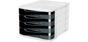 Schubladenbox Ellypse grau/schwarz CEP 1003940161 Produktbild