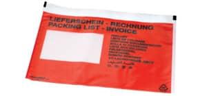 Begleitpapiertasche C5 selbstklebend rot DOCUFIX 203 Lieferschein/Rechnung 250Stk Produktbild