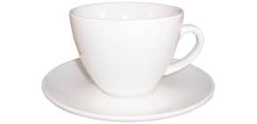 Kaffeetasse + Untertasse weiß 433-255 0,2L 6ST Produktbild
