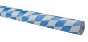 Tischtuchrolle 100cmx10m Raute WEROLA 2025 Damast weiss-blau Produktbild