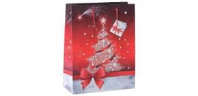 Weihnachts-Geschenktragetasche SIGEL GT023 Small Sparkling Tree Produktbild