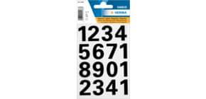 Zahlenetiketten 0-9 schwarz HERMA 4168 25mm Produktbild