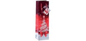 Weihnachts Flaschentragetasche SIGEL GT024 Bottle Sparkling Tree Produktbild