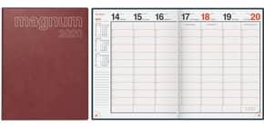 Buchkalender 1W 2S weinrot 18,3x24cm RIDO 702704229 Produktbild