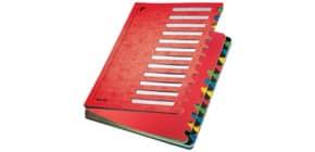 Ordnungsmappe 24teilig rot LEITZ 59140025 Karton Produktbild