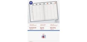 Buchkalender 1W 2S schwarz 18,3x24cm RIDO 702704290 Produktbild