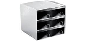Schubladenbox 6 Laden grau/schwarz CEP 1032220011 MyCube3222 Produktbild