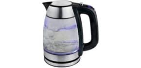 Wasserkocher Glas 1,7l sw./silb KALORIK JK 1040 Produktbild
