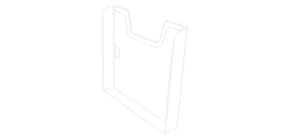 Prospekthalter A4quer glasklar EXACOMPTA 63858D Einzelelement Produktbild