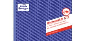 Wochenbericht A5 quer, 2x40 Blatt ZWECKFORM 1772, selbstdurchschreibend Produktbild