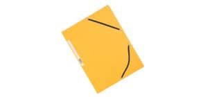 Dreiflügelmappe Karton gelb Produktbild