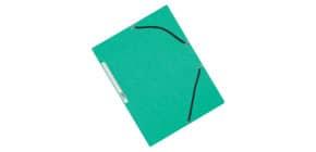 Gummizugmappe Karton grün Q-CONNECT KF02168 Produktbild