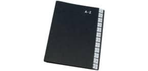 Pultordner A-Z schwarz Q-CONNECT KF04563 24Fächer Papp Produktbild