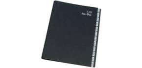 Pultordner 1-12 Jan-Dez. schwarz Q-CONNECT KF04562 12Fächer Pappe Produktbild