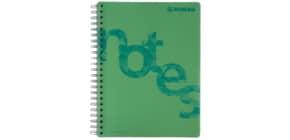 Collegeblock PP Cover A4 kariert grün DONAU 7525201-06 140BL 80g Produktbild