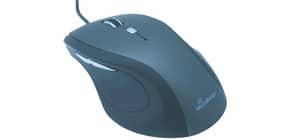 Maus optisch schwarz-ergonom.geformt MEDIA RANGE MROS202 OfficeHome Produktbild