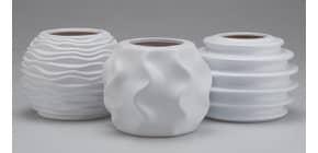 Dekovase Keramik weiß sort. 96969 H11cm D14cm Produktbild