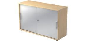 Schiebetürenschrank  ahorn/silber HAMMERBACHER MONTAGEV1752S/3/S/RE Produktbild