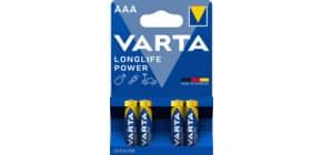 Batterie AAA 4ST Longlife Power blau VARTA 04903 121 414 Produktbild