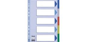 Register A4 blanko bunt 5tlg. ESSELTE 15259 Plastik fbg.Tabs Produktbild