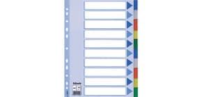 Register A4 blanko bunt 10tlg. ESSELTE 15261 Plastik fbg.Tabs Produktbild