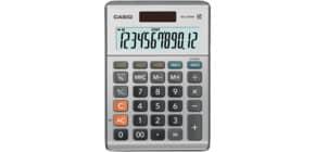 Tischrechner 12-stellig silber CASIO MS-120BM DualPower Produktbild