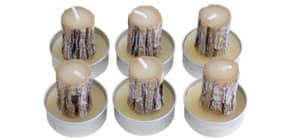 Teelicht 6ST Baumstamm N15018-5658 Produktbild