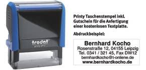 Printy Gehäusefarbe blau TRODAT 4912 GUTSCHEIN   1-5 Zeilen Produktbild