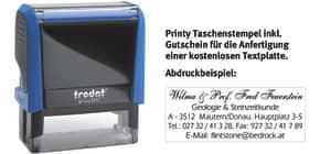 Printy Gehäusefarbe blau TRODAT 4913 GUTSCHEIN   1-6 Zeilen Produktbild